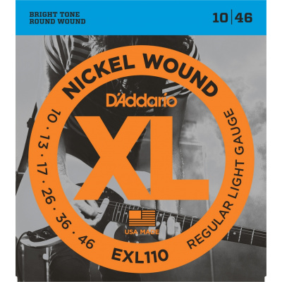 D`ADDARIO EXL110 XL NICKEL WOUND Комплект струн для электрогитары 10-46